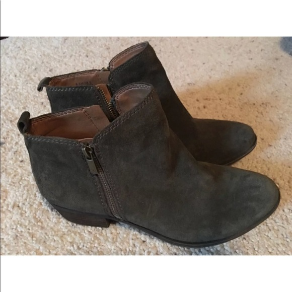 e1ac27933543 Lucky Brand Shoes - Lucky Brand olive green suede Basel Boots